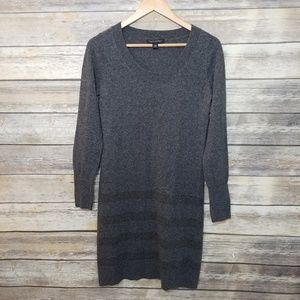 Banana Republic Fitted Striped Sweater Dress Wool
